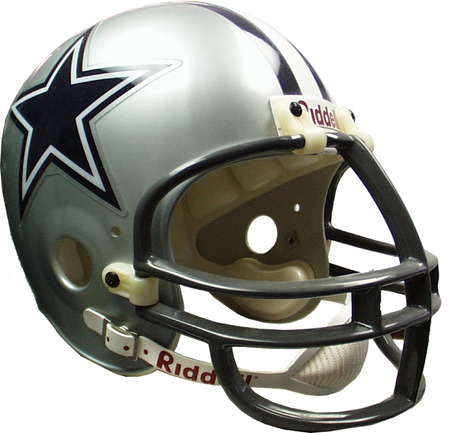 football helmet: Dallas Cowboys football helmet.