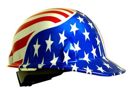 Hardhat with USA flag design