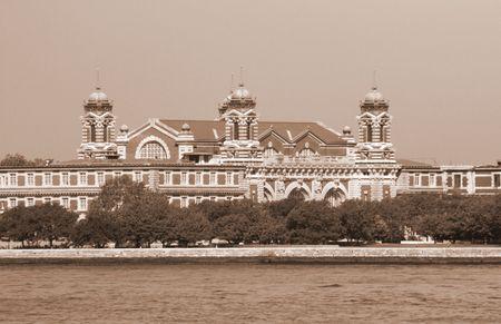 would: Ellis Island come i primi immigrati degli Stati Uniti avrebbe visto.