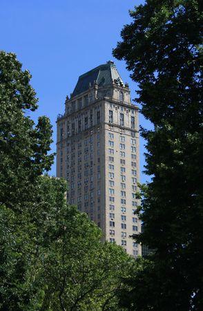 New York City skyline as seen from Central Park.