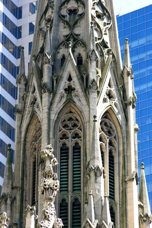 One of the spires on Saint Patricks Cathedral, NYC.
