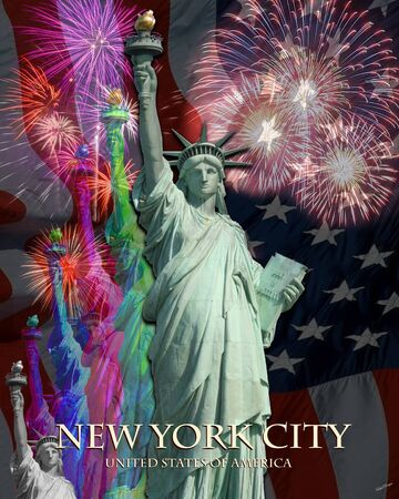 4th of July Celebration in New York City poster Stock Photo - 11219173