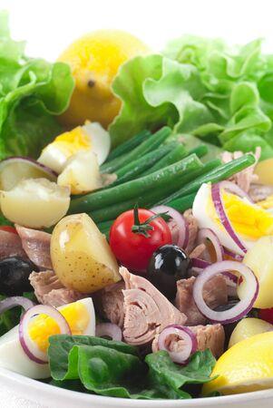 potato tuna: Fresh green tuna salad with new potato.