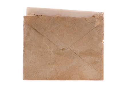 old envelope: Old envelope with a letter inside.