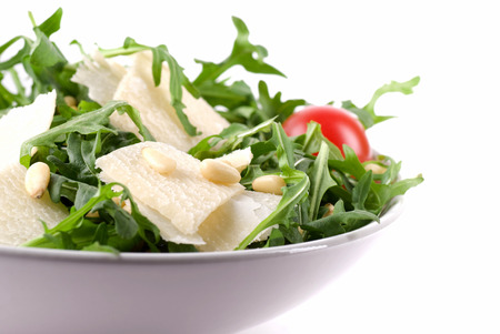 pine kernels: Ruccola salad with parmesan cheese and pine kernels.