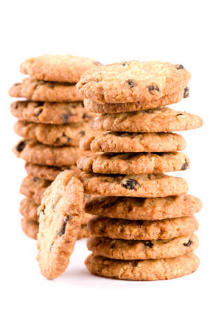 Two stacks of freshly home made cookies photo