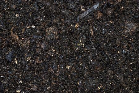 Organic moist soil full frame.