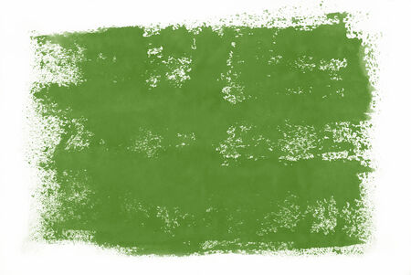 green hand: Green hand painted watercolor background. Stock Photo