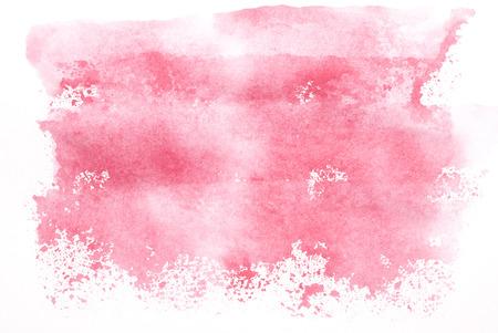 ピンク手彩色水彩背景。