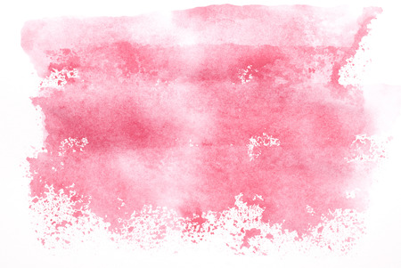 Pink hand-colored watercolor background.