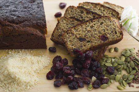 Freshly baked homemade gluten free bread.