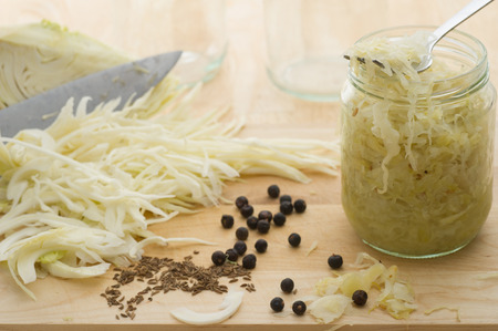 cumin: Homemade sauerkraut with cumin and juniper.