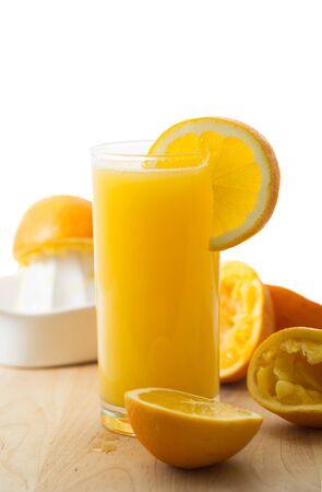 Homemade fresh organic orange juice