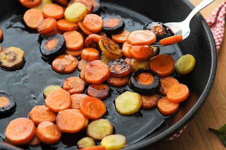 Honey glazed butter fried carrot