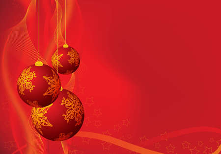 abstract red christmas background for design / greeting card Stock Photo - 6251431