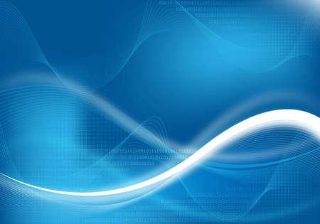 technische abstracte blauwe achtergrond voor ontwerp Stockfoto