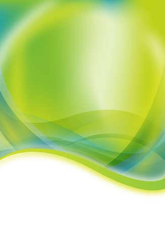 abstracte aard van de groene en blauwe flyer ontwerp