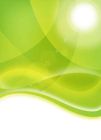 abstract green environmental/eco flyer for design Stock Photo - 6261893