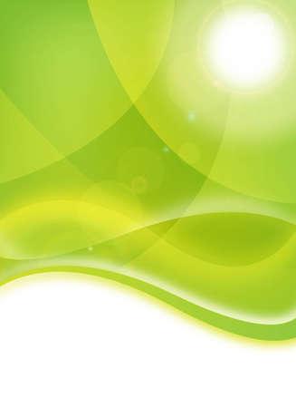 abstracte groen milieueco-flyer ontwerp