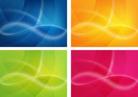 abstracte achtergrond ontwerpen in 4 kleuren