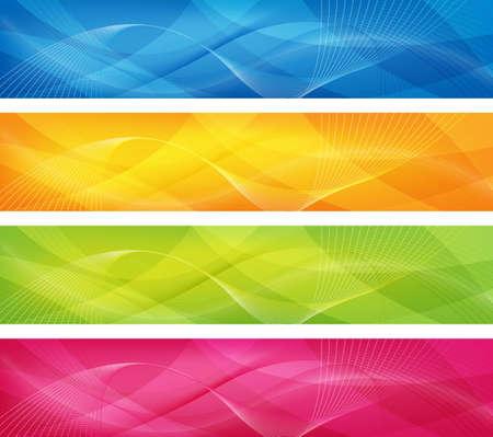 abstract ontwerp in 4 kleuren