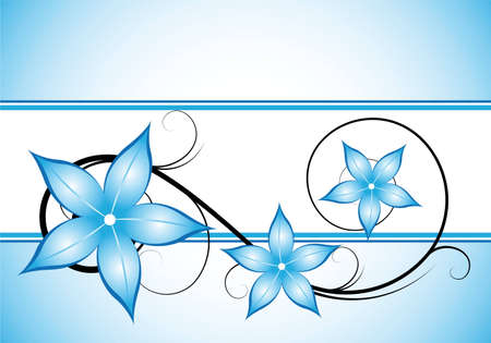 abstract winter blue floral background for design photo