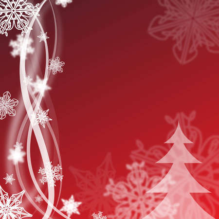 red abstract christmas background design with snowflakes Stock Photo - 6261904