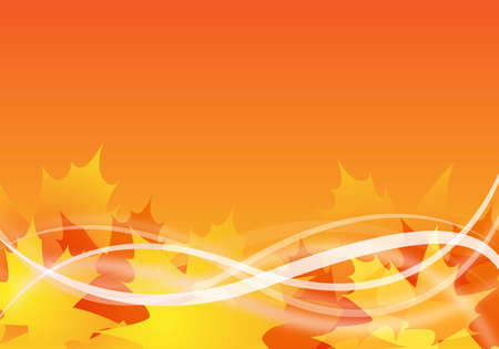 abstract autumn background design with maple leaves Stock Photo - 6261931
