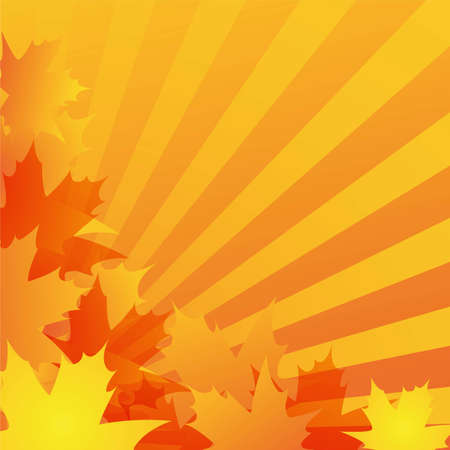 abstract autumn background design with maple leaves photo