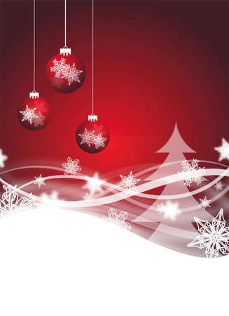 red abstract christmas flyer for design Stock Photo - 6261921