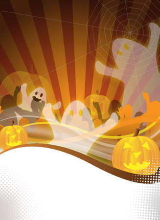 abstract halloween party flyer for design