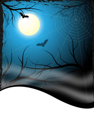 creepy halloween background design for flyer photo
