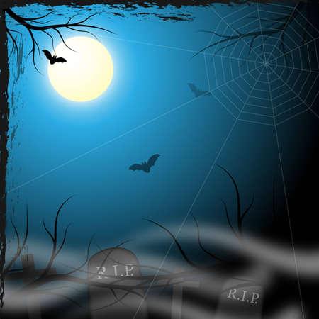 Spooky halloween achtergrond voor ontwerp