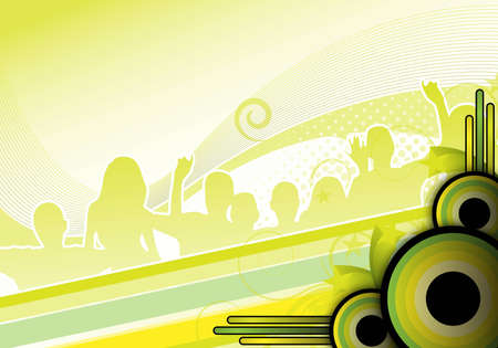 green abstract party background for design photo