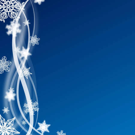 abstract blue and white christmas background with snow flakes Stock Photo - 6293143