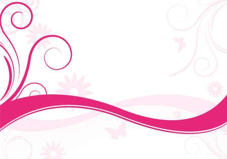 abstract ontwerp met roze bloemen