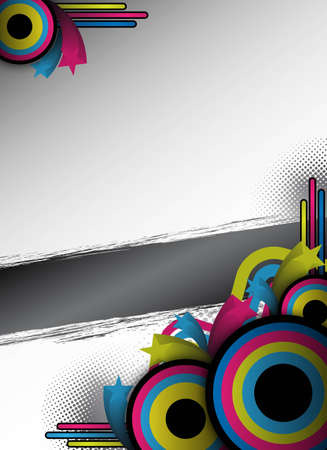 abstract retro flyer for design photo