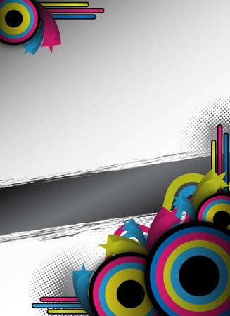 abstract retro flyer ontwerp