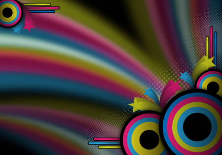 abstract colorful retro background for design photo