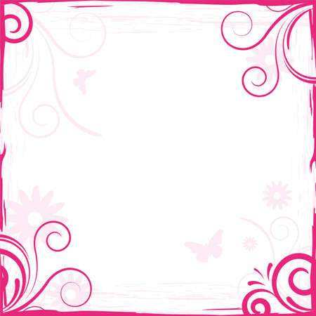 Abstract Pink Floral Background Frame For Design Stock Photo ...