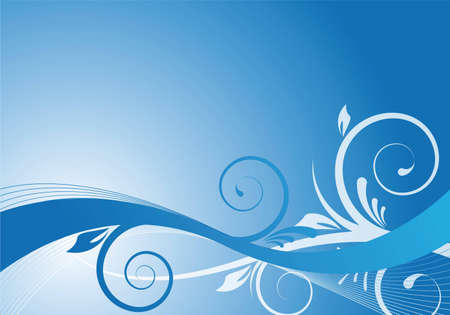 abstract blue floral design for background photo