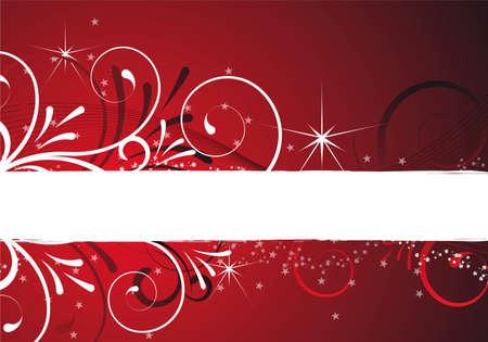 Kerst achtergrond met ontwerp met bloemen en ornamenten Stockfoto