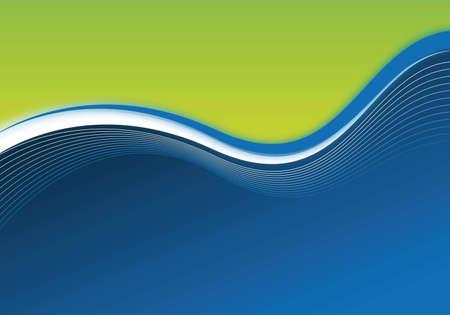 blauwe en groene zakelijke achtergrond voor presentatieontwerp