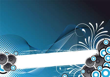 blend: blue party flyer for design