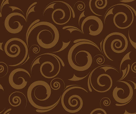 seamless brown floral background design Stock Photo