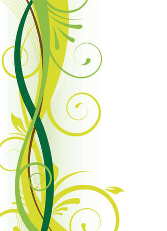 green vertical floral background for design Stock Photo
