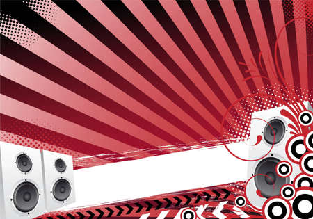 red abstract party disco design photo