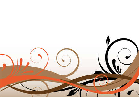 creative pictures: brownorange background design with ornaments Stock Photo