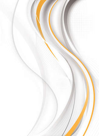 abstract futuristic vertical design with gray and orange colors