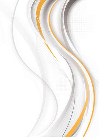 abstracte futuristische verticale ontwerp met grijs en oranje kleuren Stockfoto